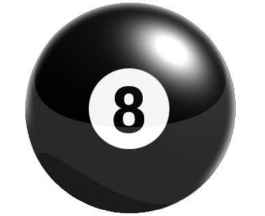 8 ball sort billard kugle