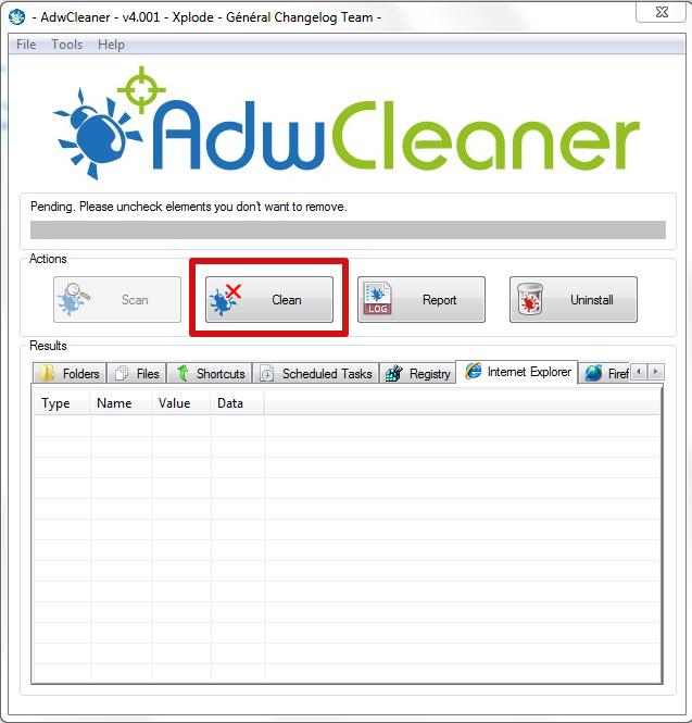 adwcleaner clean