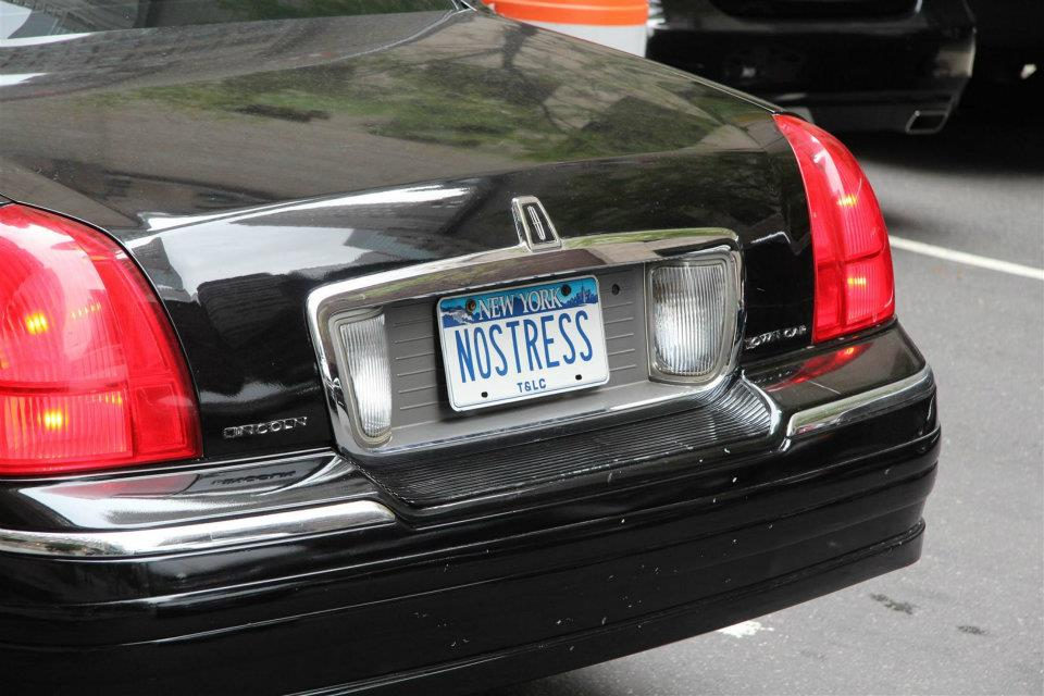 nostress numberplate